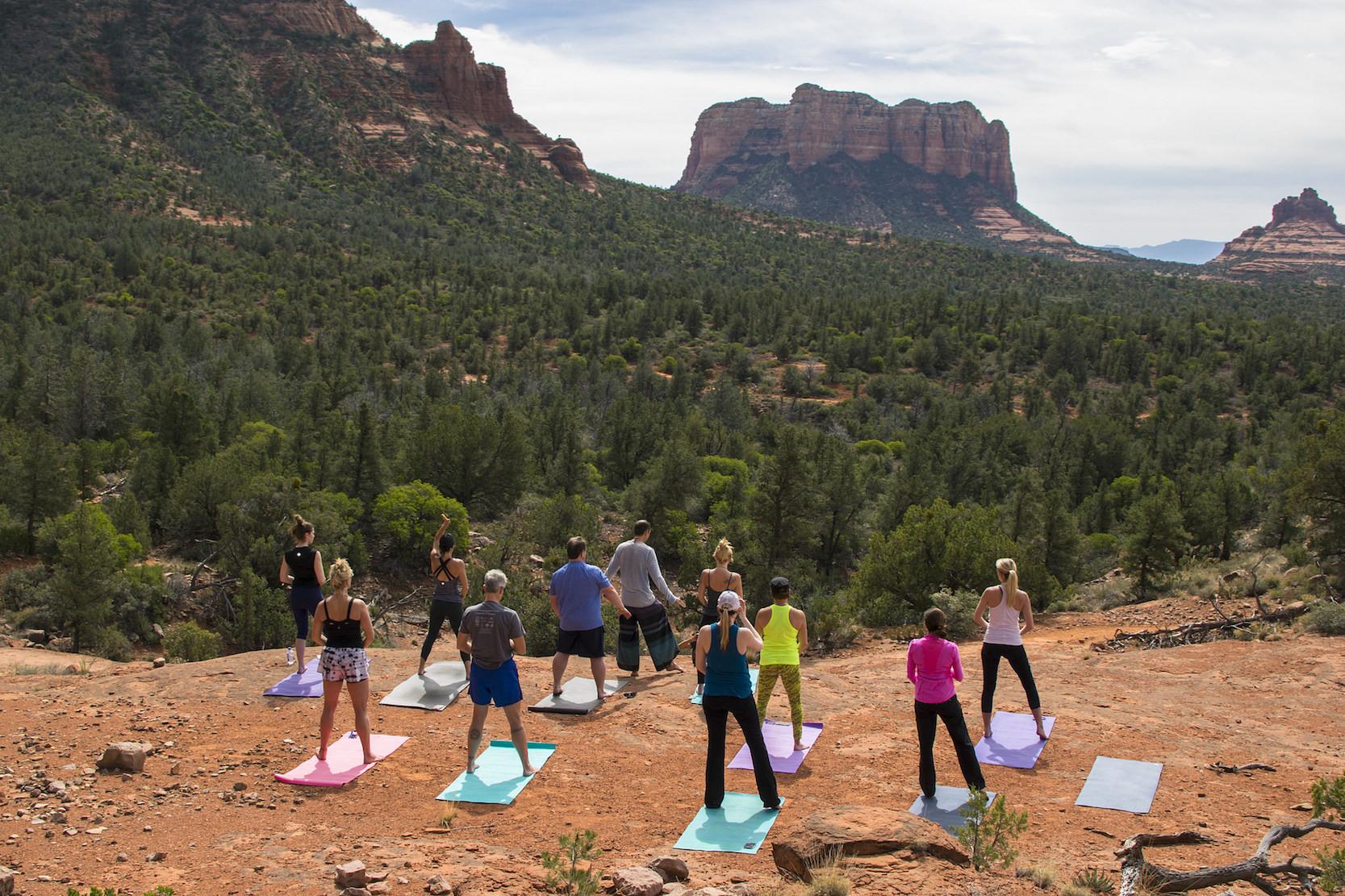 Sedona Yoga Photos on the Red Rocks with Yogi Blair
